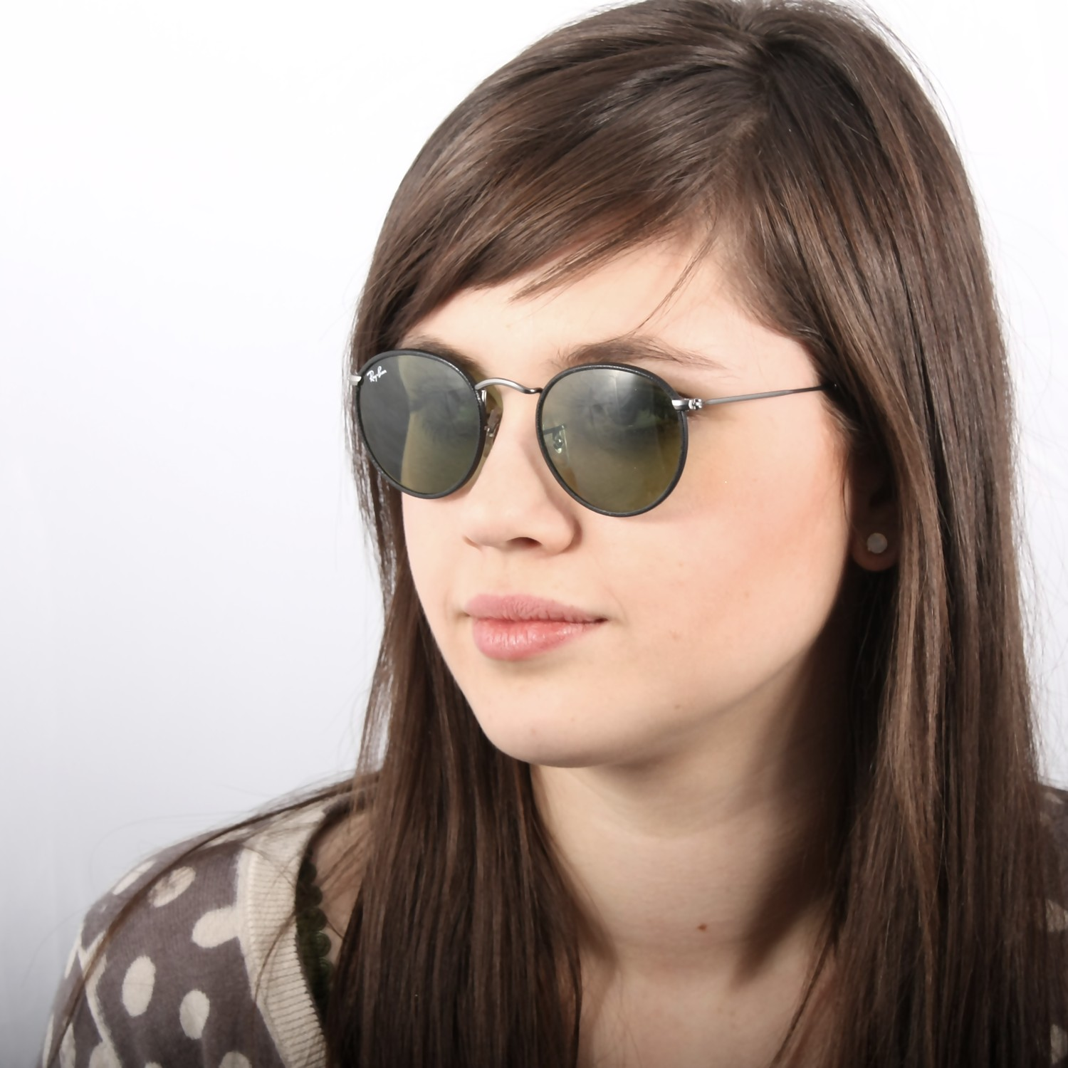 ray ban round metal arista
