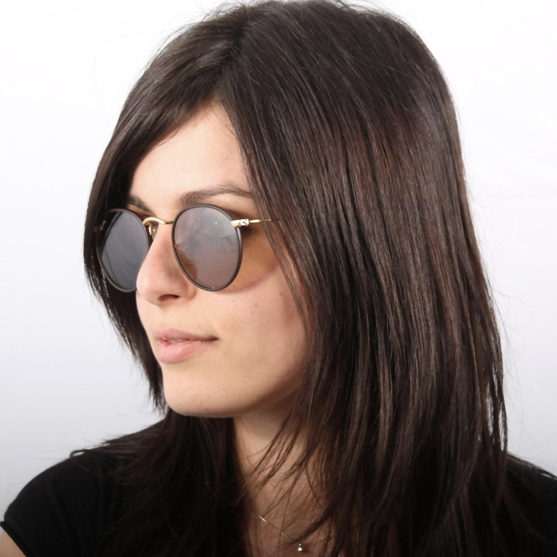 ray ban rb3475q sunglasses  ray ban round craft brown rb3475q 112/53 50 21