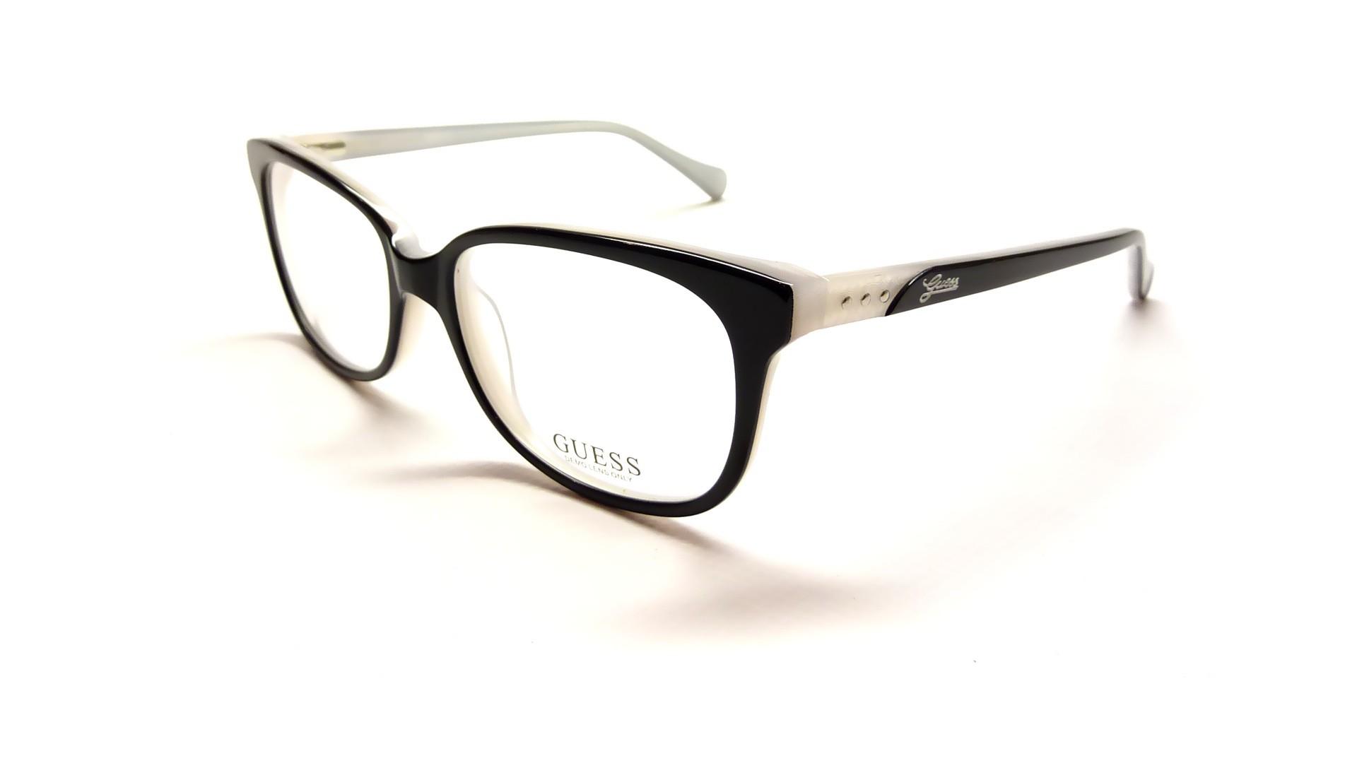 Guess Eyeglass Frames 2293 : Guess GU2293 BKWHT 52-16 Black Visiofactory