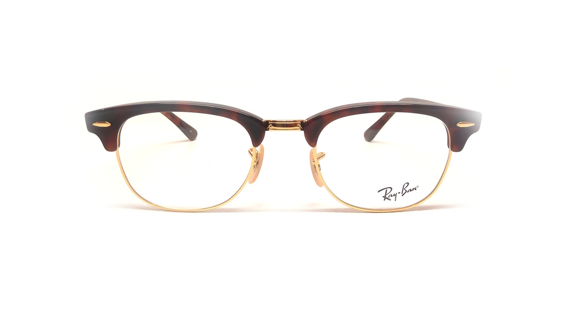 clubmaster  de vue Ray-Ban Clubmaster 脡caille RX5154 RB5154 2372 49-21
