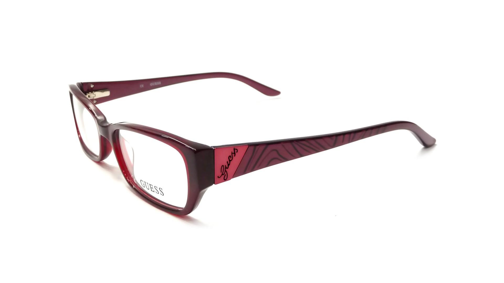 Guess Red Eyeglass Frames : Guess GU2305 BU 52-16 Red Visiofactory