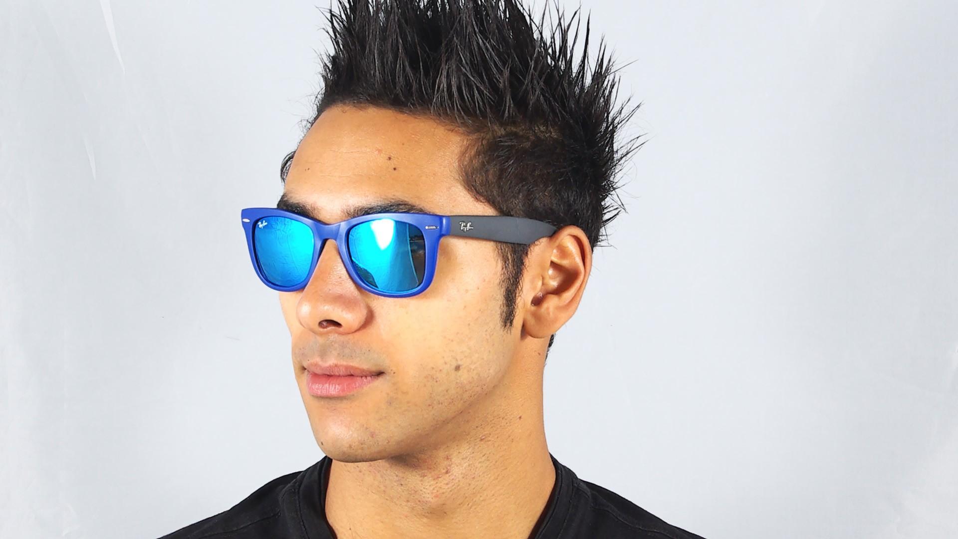 ray ban blue flash wayfarer
