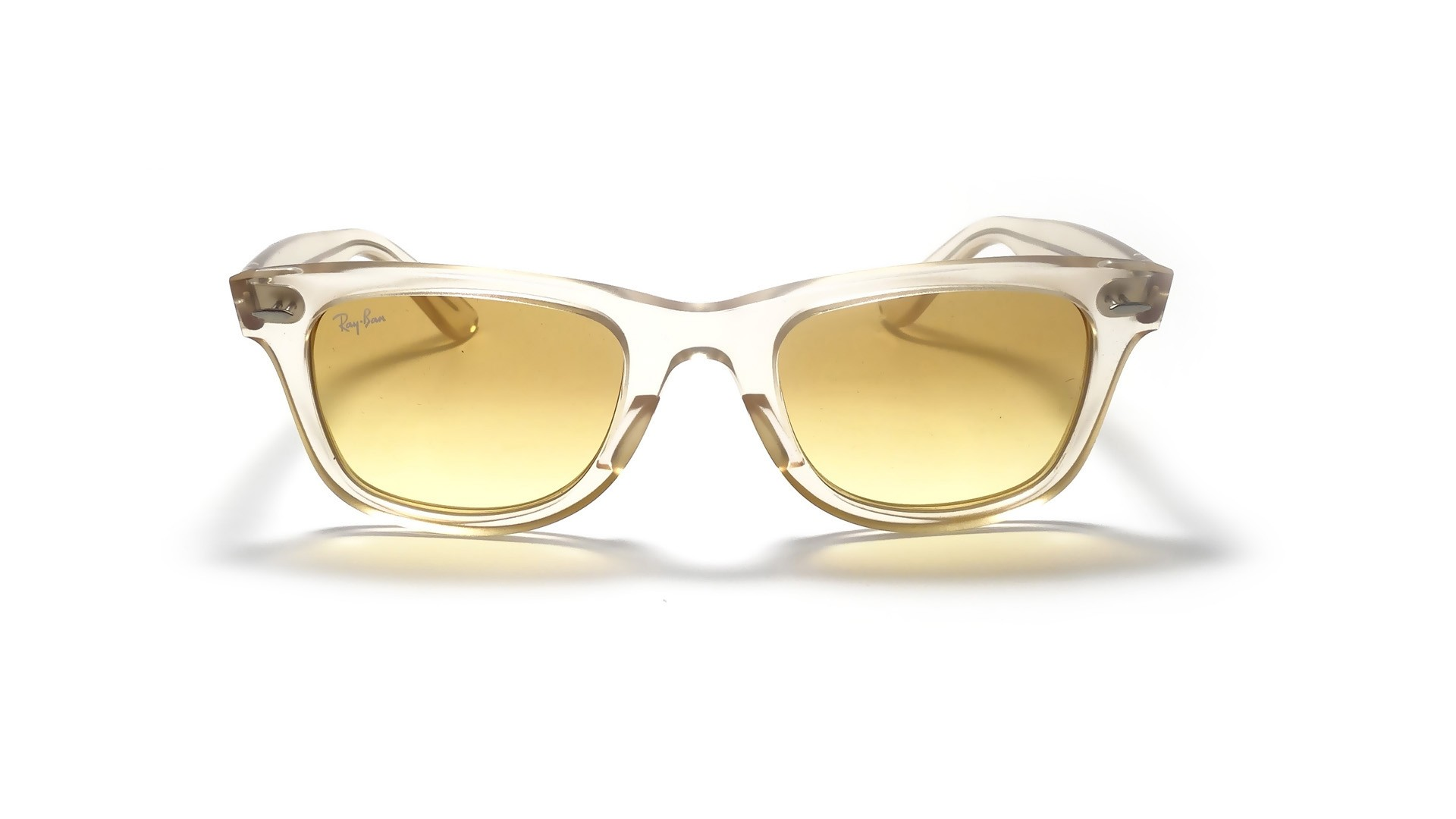 ray ban rb2140 wayfarer sunglasses yellow  ray ban original wayfarer ice pop yellow rb2140 6059/x4 50