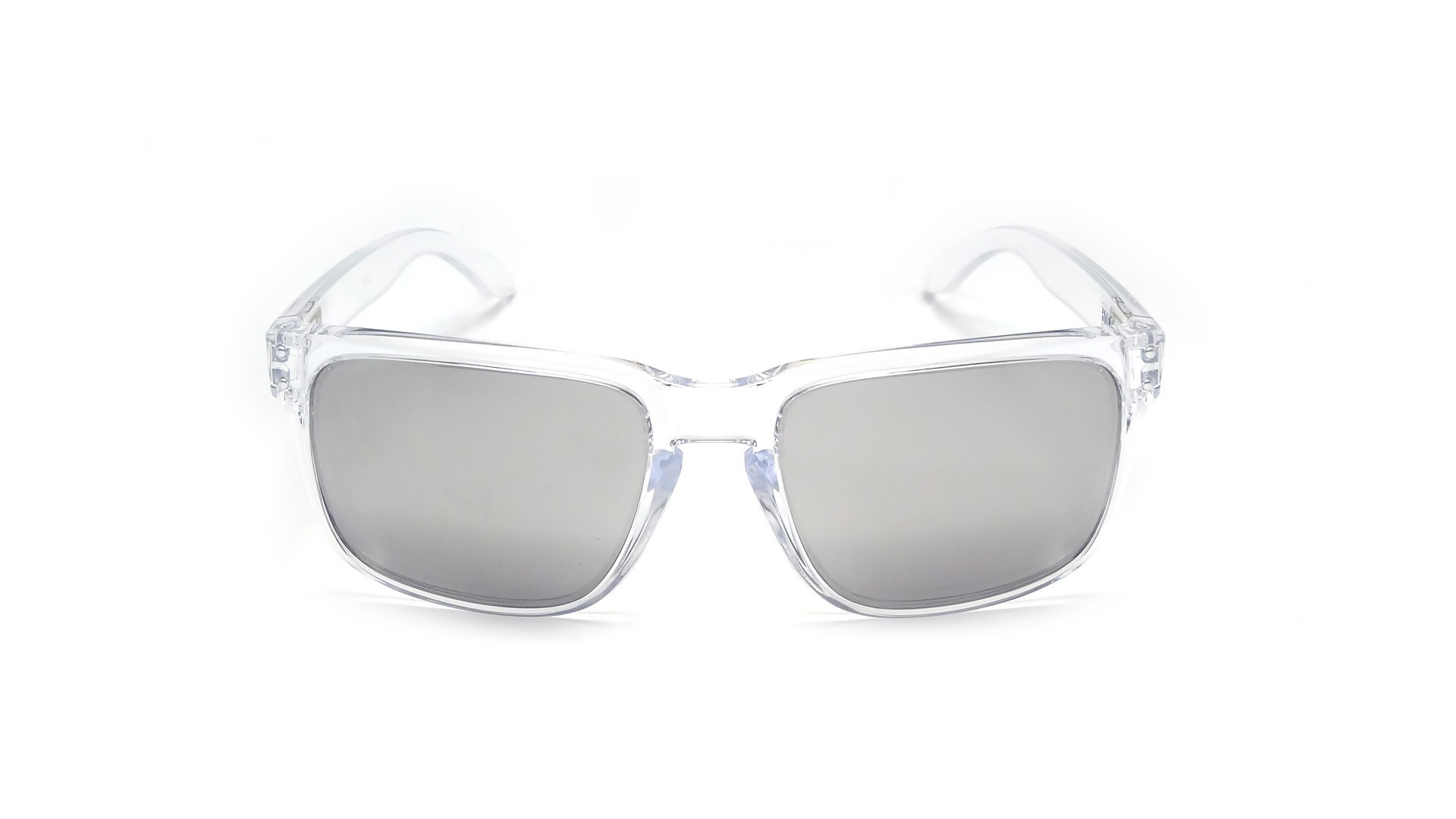 Oakley Holbrook Polished Clear Avec Les Verres Chrome Iridium ... c883562509bd