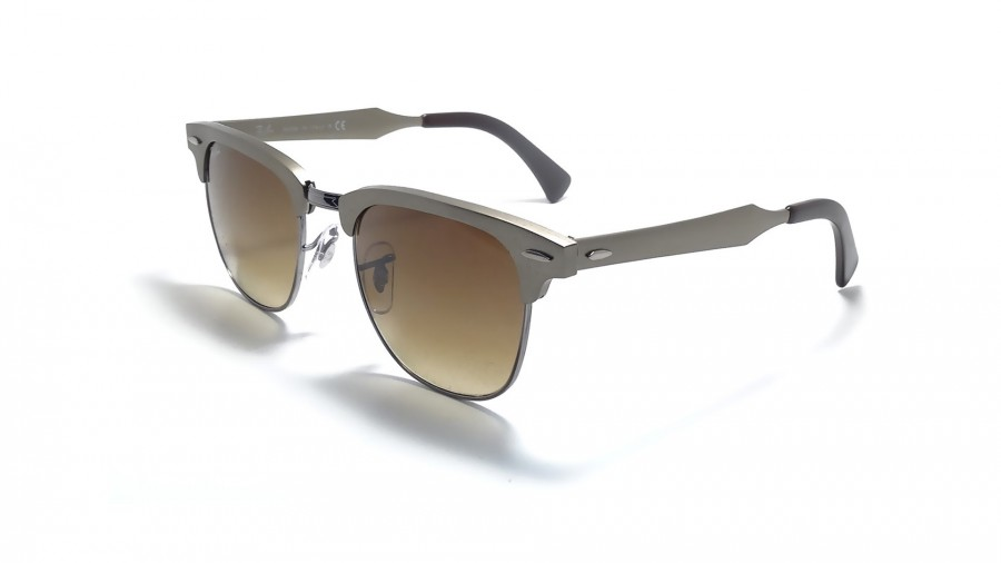 clubmaster aluminum  Ray-Ban Clubmaster Aluminium Gold RB3507 139/85 51-21
