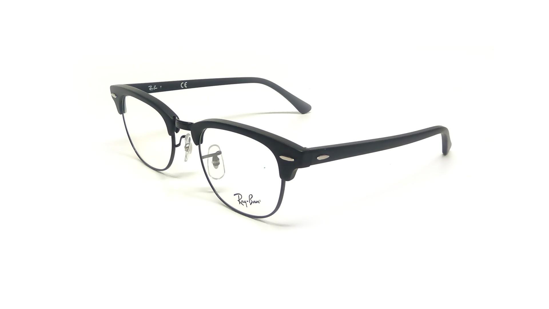 clubmaster ray ban eyeglasses  Ban Clubmaster Black RX5154 RB5154 2077 51-21