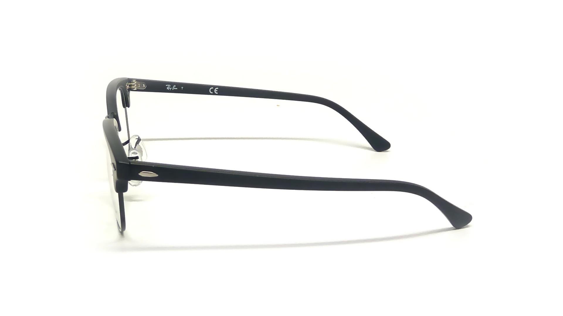 0ebb155431 Ray Ban Rb Rx5154 Clubmaster 2077 Matte Black Eyeglasses ...
