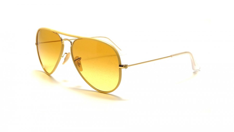 ray ban verre jaune