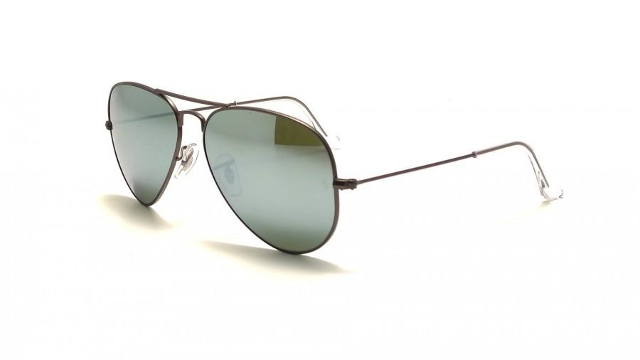 lunettes de soleil ray ban aviator 3025 argent miroir