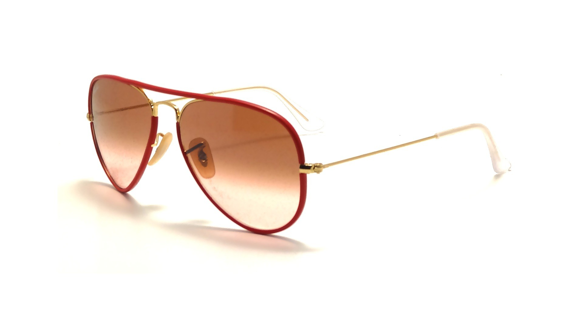 ray ban aviator monture rouge