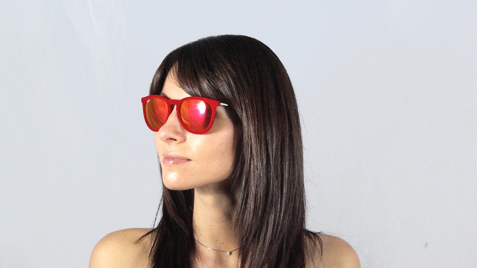 ray ban rouge miroir