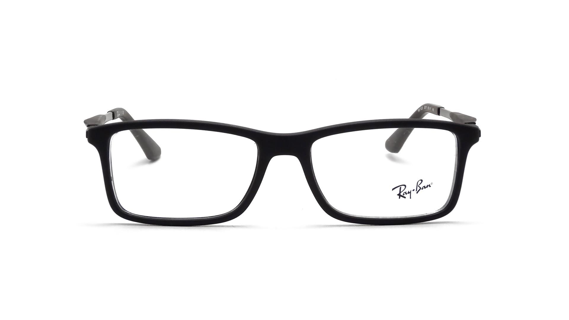 lunette vue ray ban noir mat