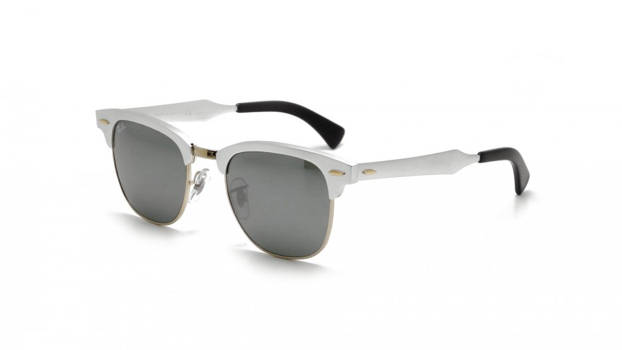 white clubmaster ray ban  Ray-Ban Clubmaster Aluminium Silver RB3507 137/40 49-21