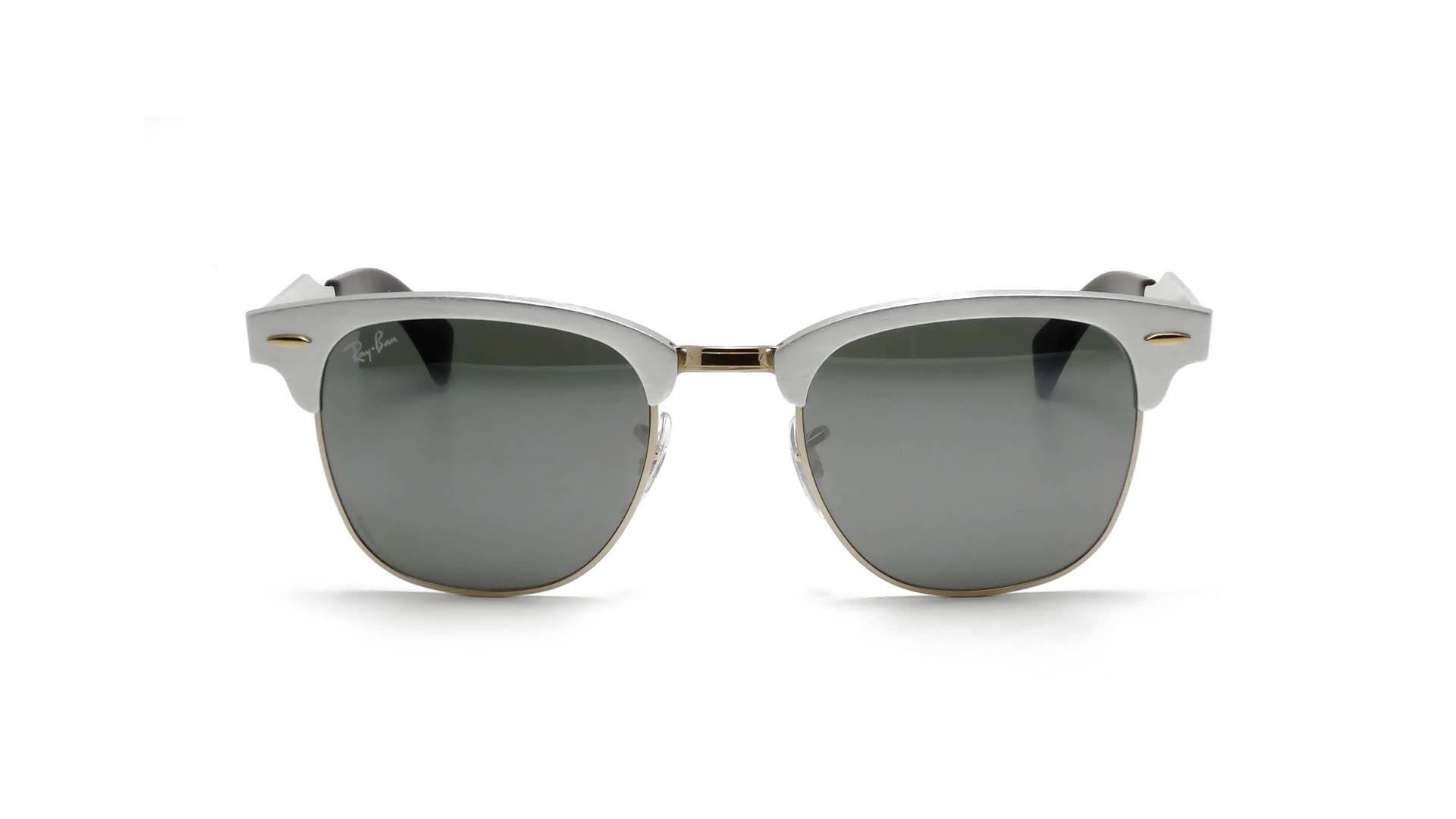 ray ban clubmaster sunglasses aluminium  ray ban clubmaster aluminium silver rb3507 137/40 49 21