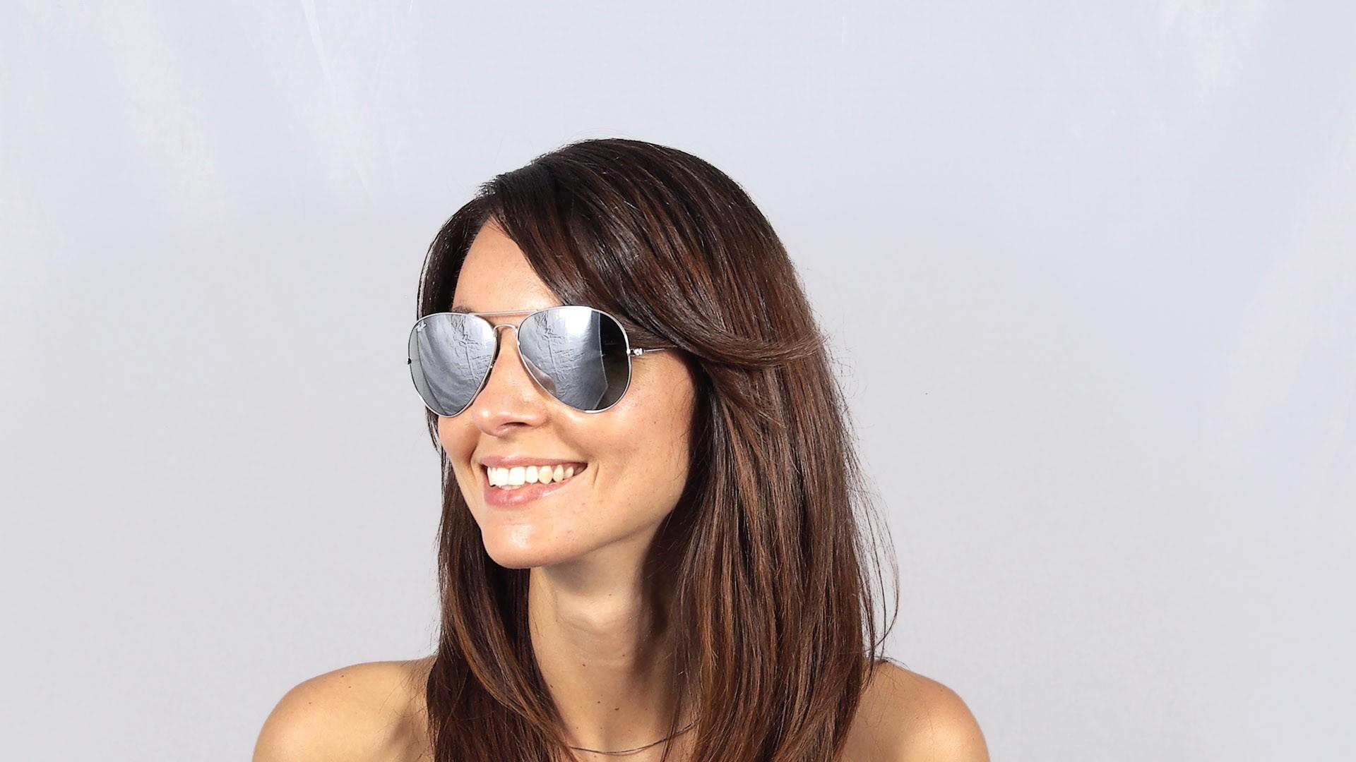 ray ban silver mirror large metal aviator sunglasses. Black Bedroom Furniture Sets. Home Design Ideas