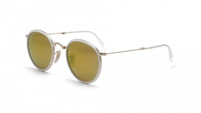 Ray-Ban Round Metal Or RB3517 001/93 48-22 Pliantes 124,92 €