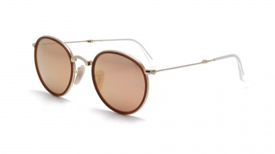 Ray-Ban Round Metal Or RB3517 001/Z2 48-22 Pliantes 124,92 €