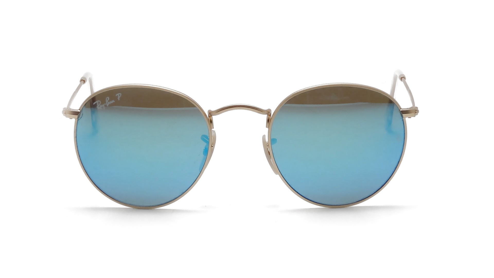 Ray-Ban Round Metal Gold RB3447 112/4L 50-21 Polarized ...