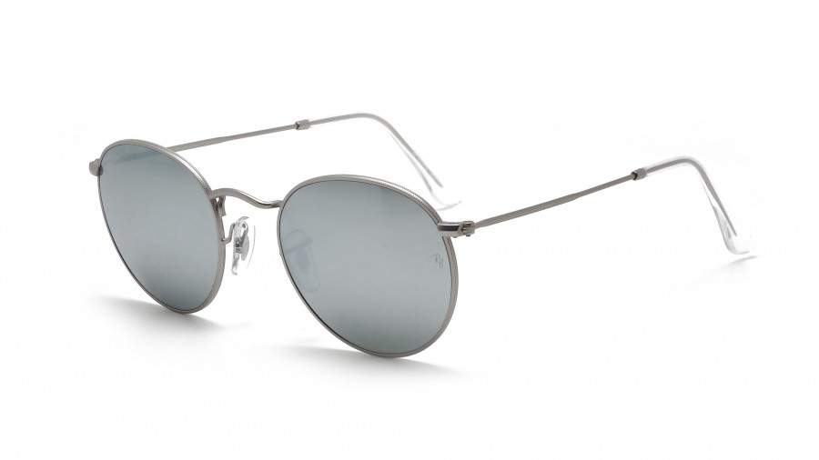 ray ban ronde argent