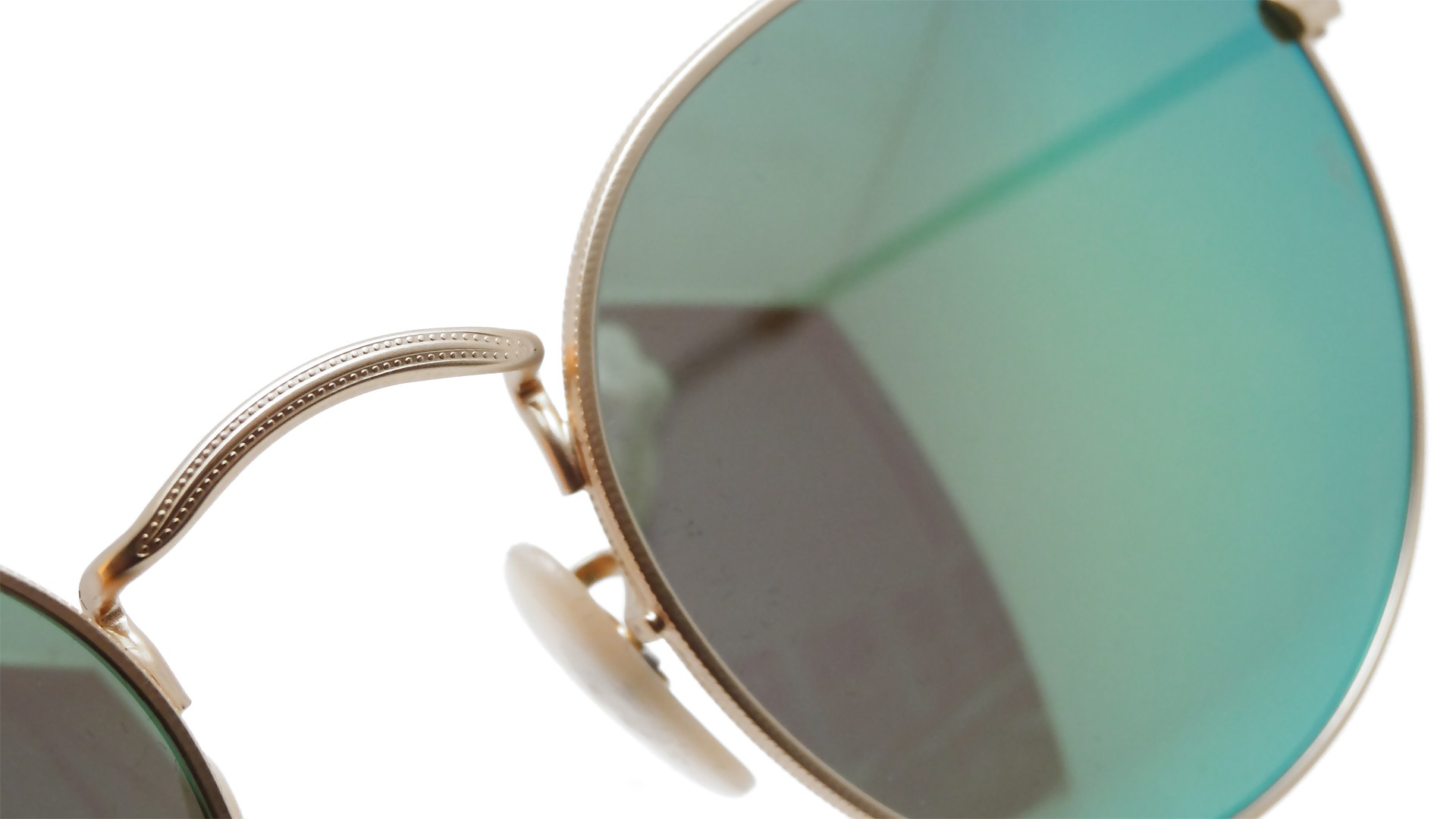 0b1ca68ac7 ... ray ban metal round flash lenses in gold