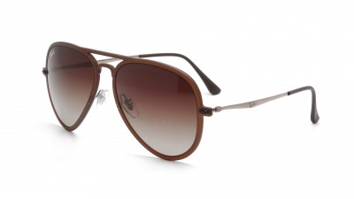 Ray-Ban Aviator Light Ray Brown Matte RB4211 6122/13 56-17 100,75 €
