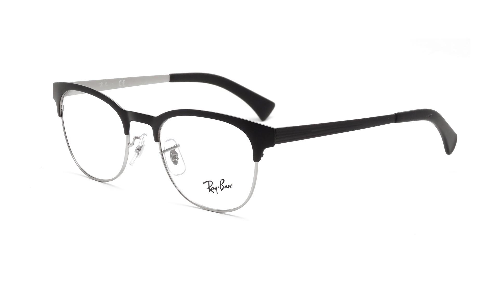 clubmaster ray ban eyeglasses  Ban Clubmaster Black RX6317 RB6317 2832 49-20