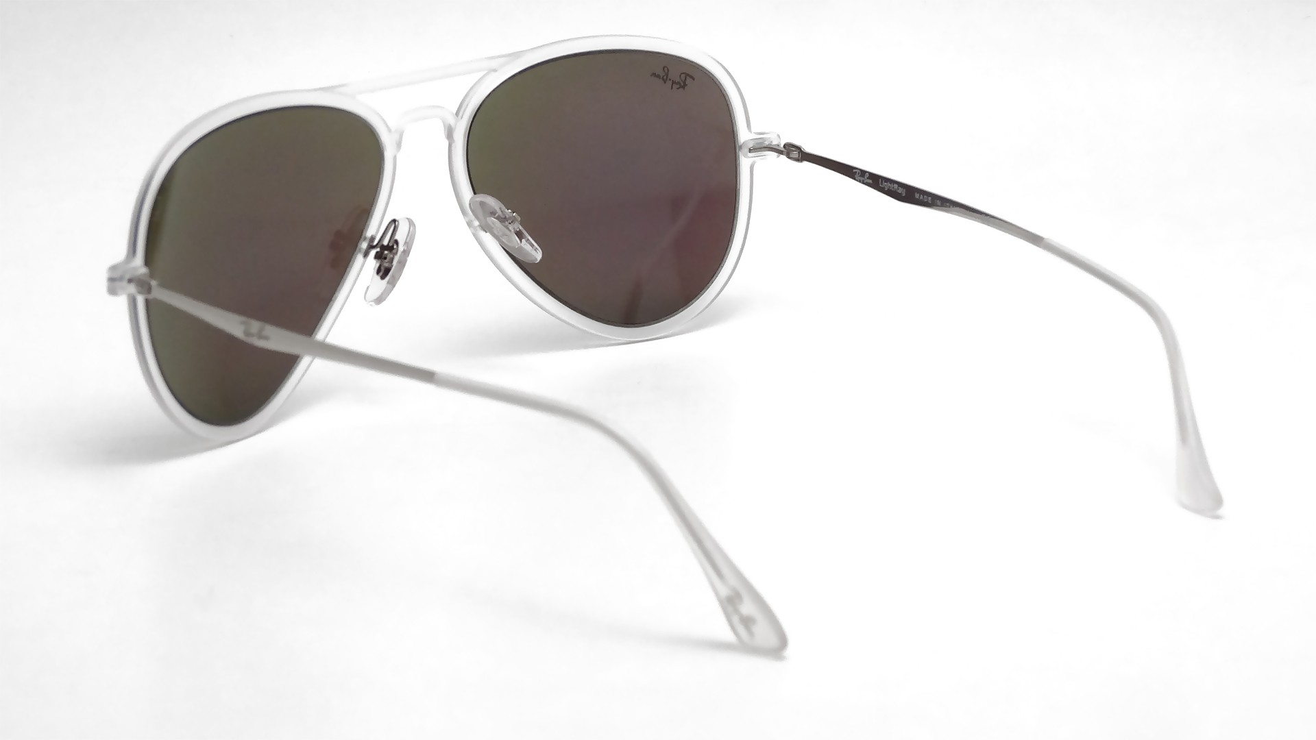 Ray Ban Aviator Light Ray Clear Matte Rb4211 646 3r 56 17