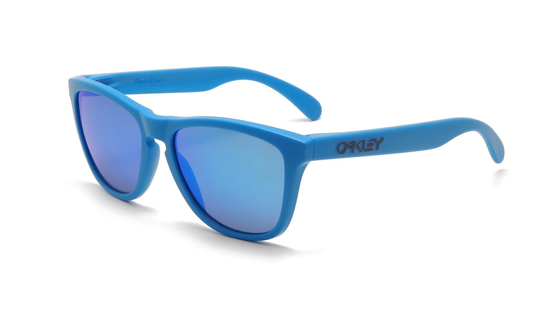 blue oakley glasses dl4w  Oakley Frogskins Blue OO9013 15 55-17  Visiofactory