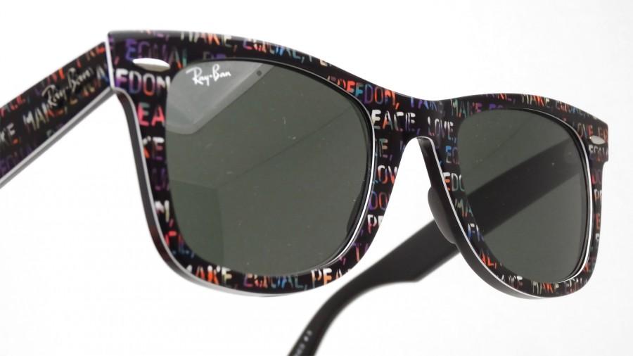 faaf172a0682a9 Ray-Ban Original Wayfarer Patchwork Noir RB2140 1089 50-22   Prix 93 ...