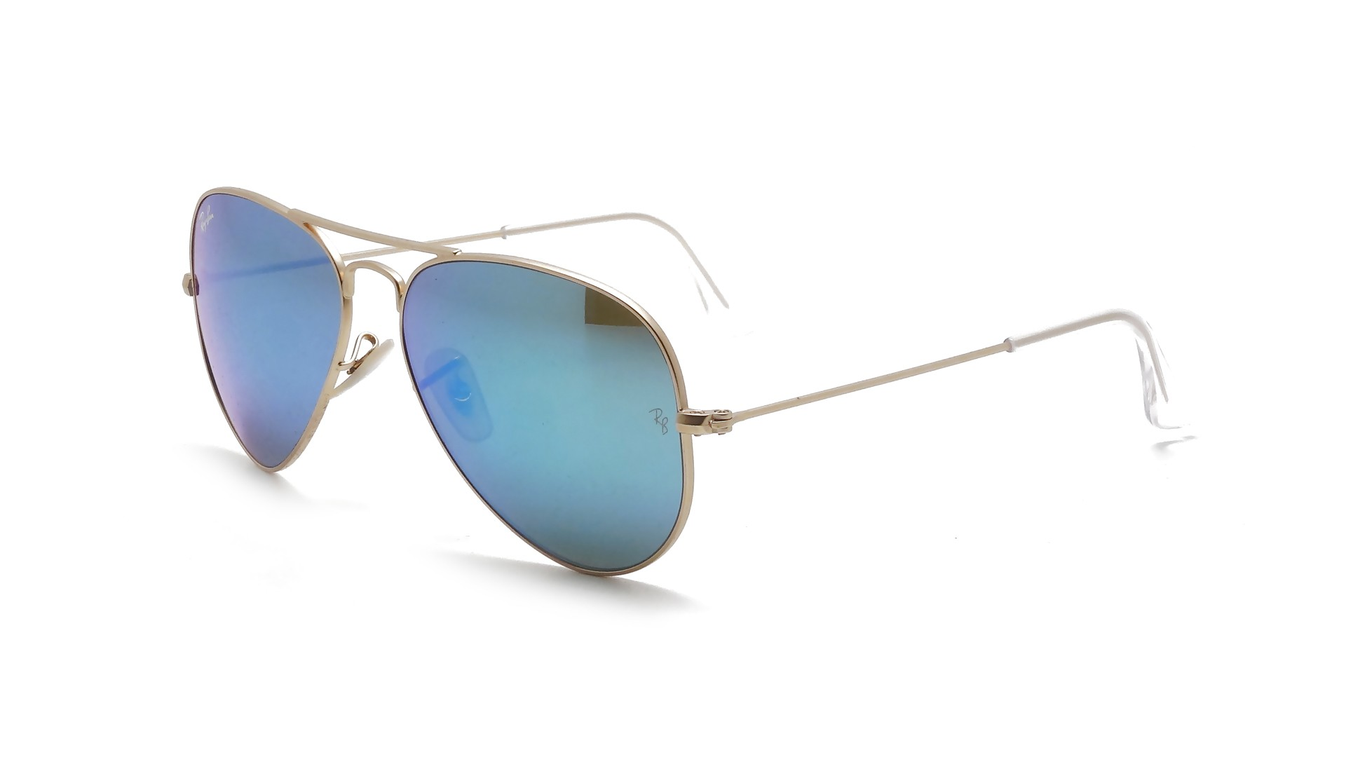 Ray ban aviator large metal gold rb3025 112 17 55 14 for Ray ban aviator miroir homme