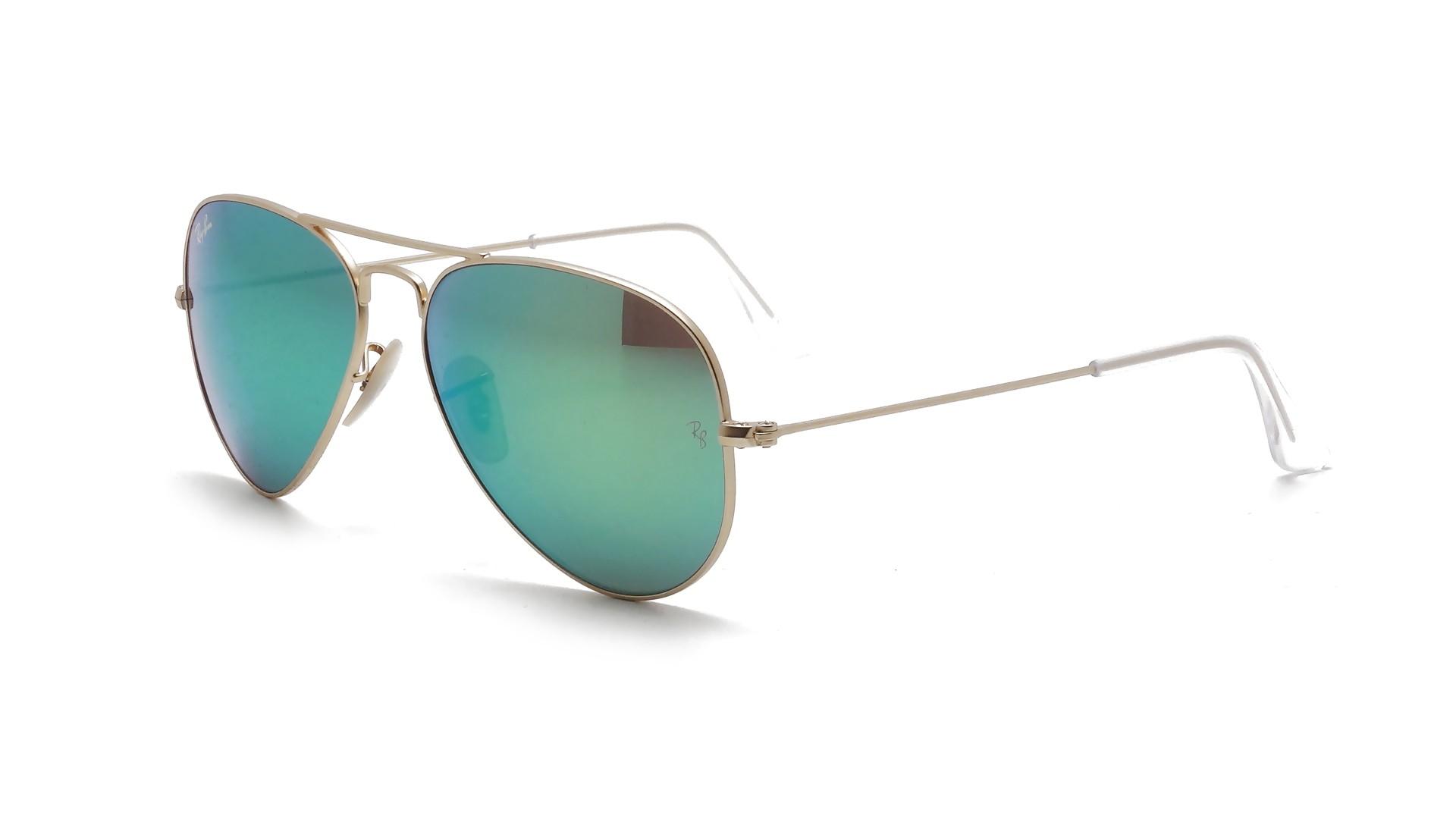 Ray ban aviator metal or miroir vert rb3025 112 19 prix for Lunettes de soleil ray ban aviator miroir