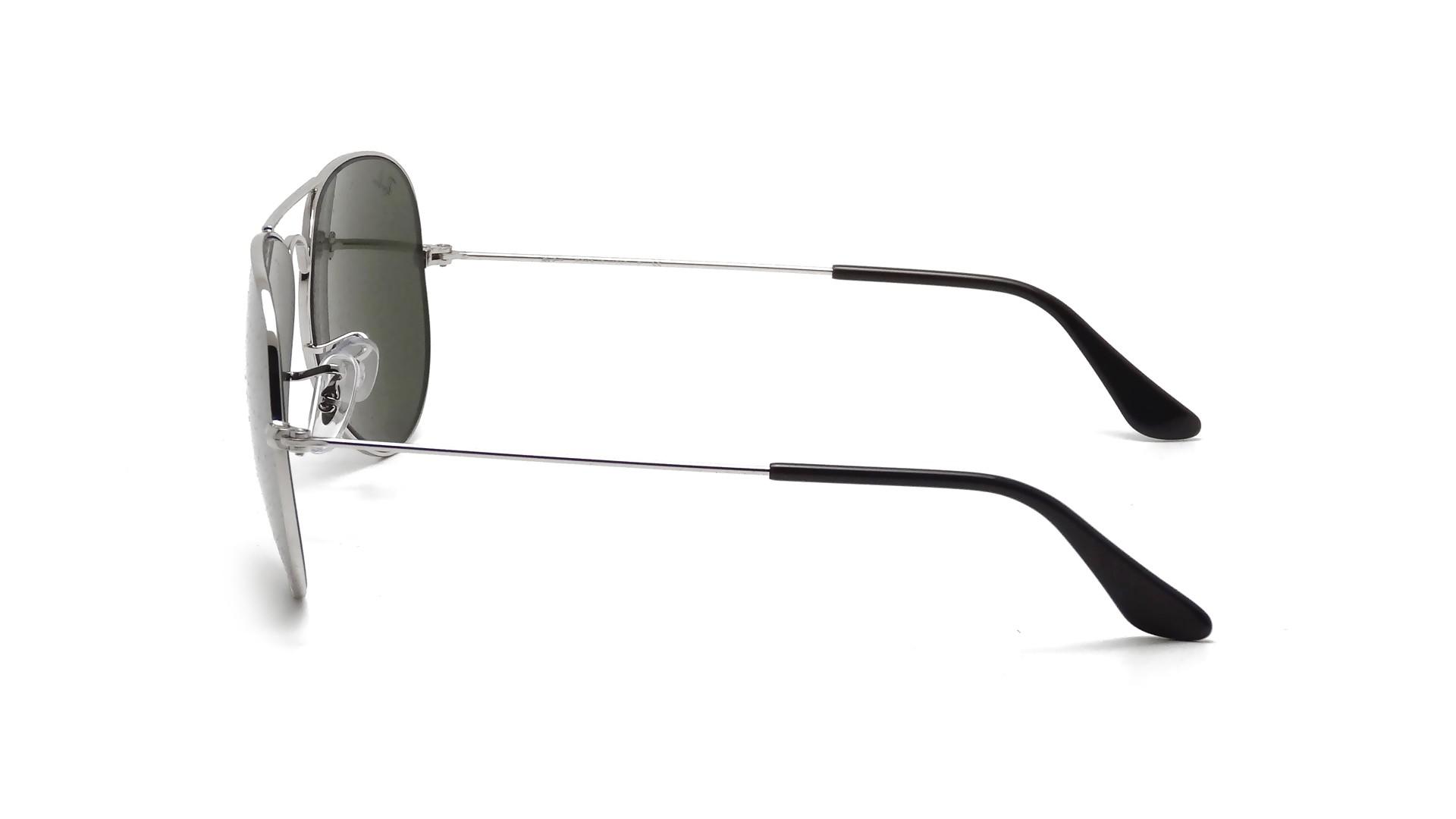 ray ban aviator miroir argent