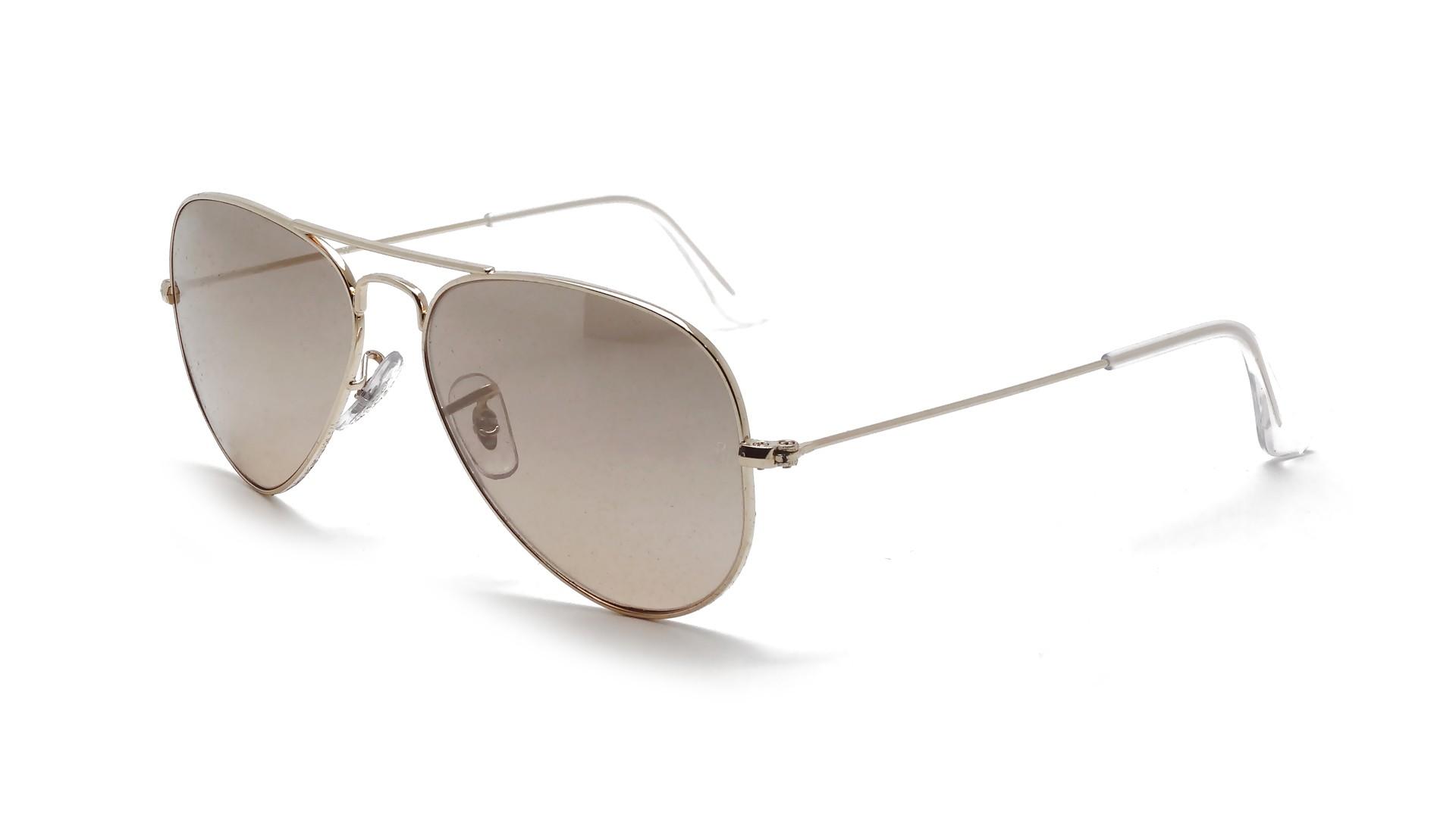 Ray ban aviator metal or rb3025 001 3e 55 14 prix 99 90 for Lunettes de soleil ray ban aviator miroir