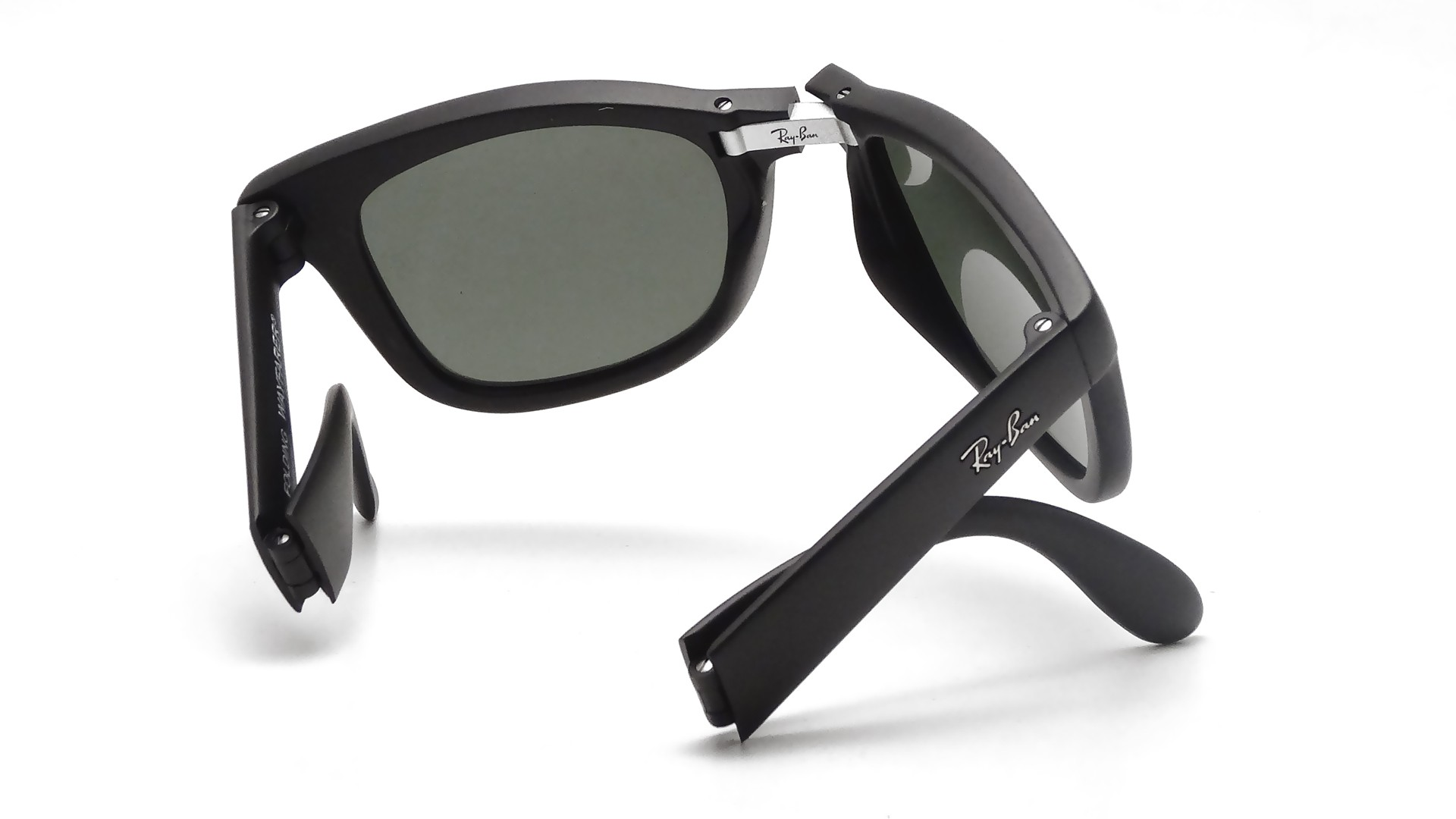 ray ban wayfarer original black  Ban Original Wayfarer Black RB4105 601/58 50-22 Pliantes Polarized ...