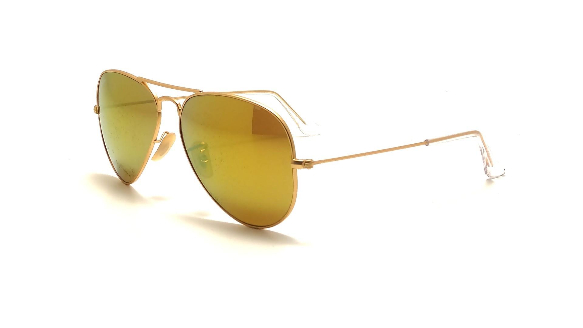 ray ban aviator miroir jaune