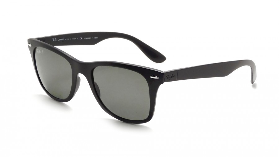 black ray ban wayfarer polarized  Ray-Ban Wayfarer Liteforce Black RB4195 601S/9A 52-20 Polarized ...