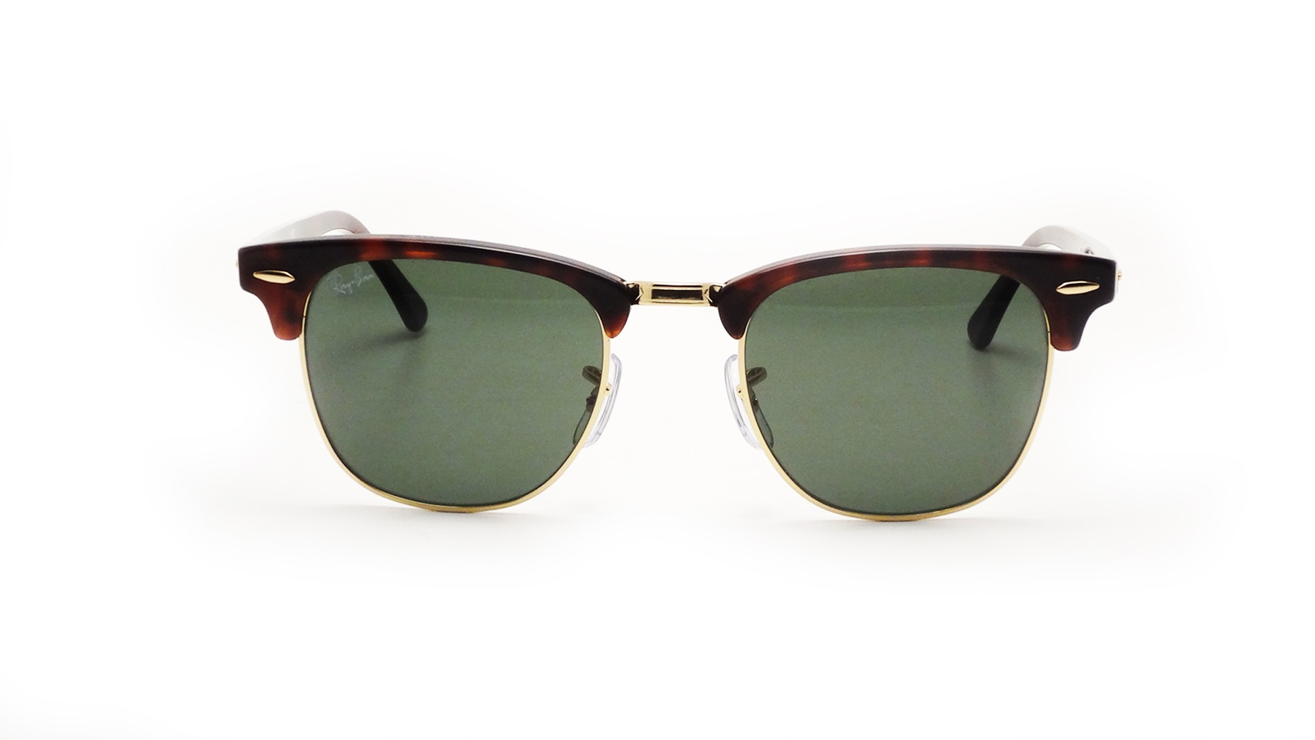 tortoise shell clubmaster gr30  Ray-Ban Clubmaster Tortoise RB3016 W0366 51-21  Visiofactory