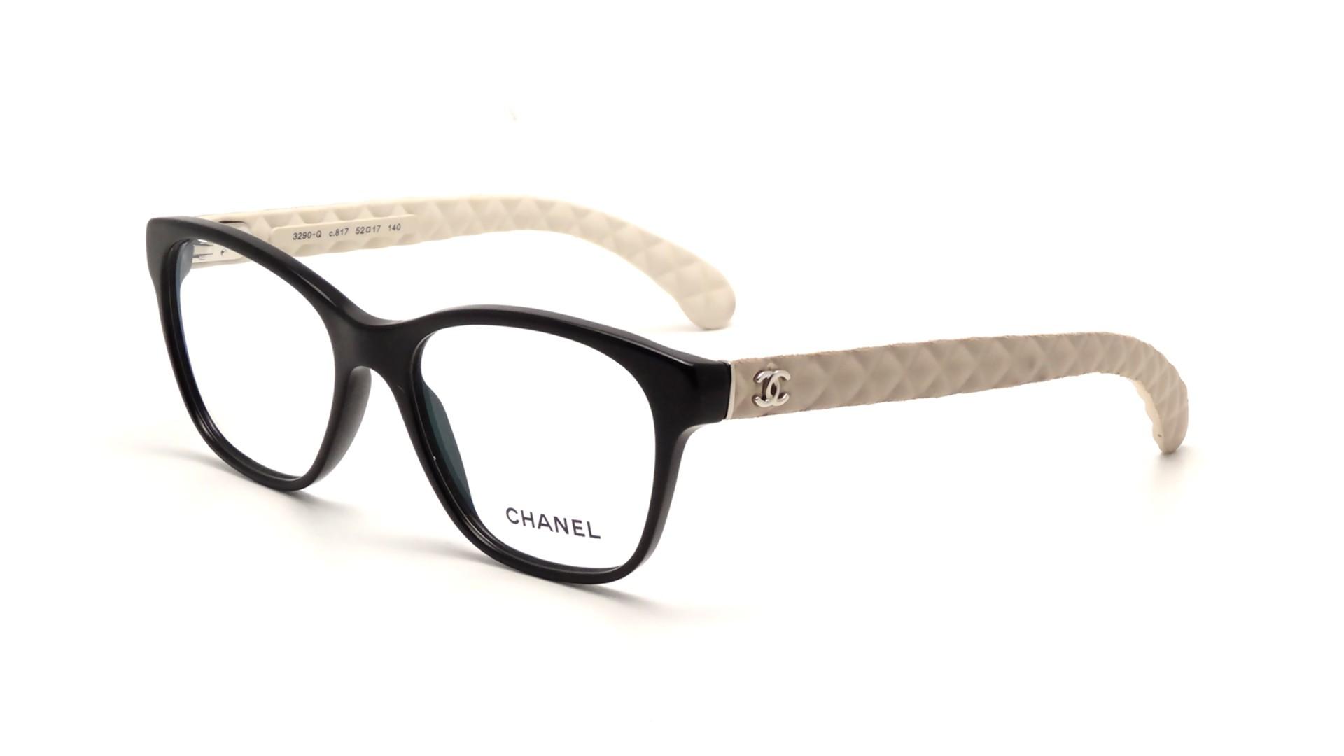 Black Chanel Eyeglass Frames : Chanel CH3290Q C817 52-17 Black Visiofactory