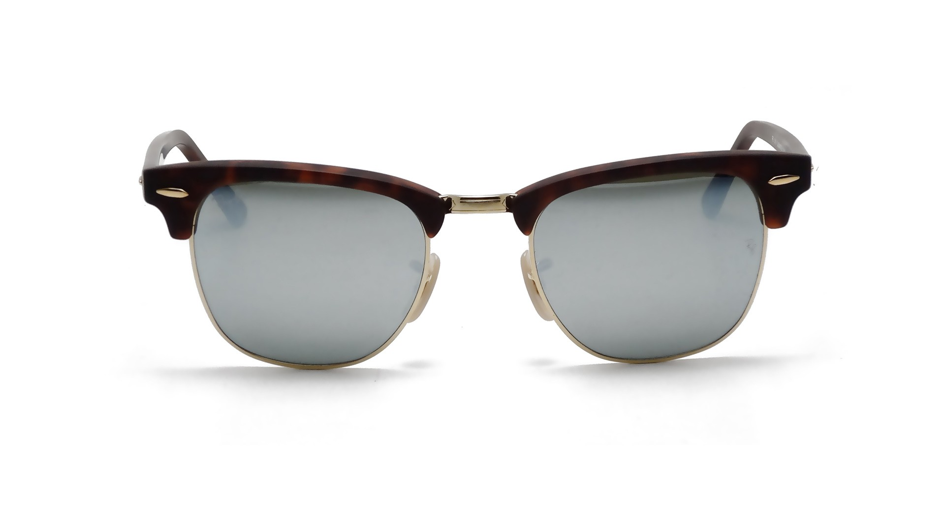 white clubmaster ray ban  Ban Clubmaster Tortoise Matte RB3016 1145/30 51-21