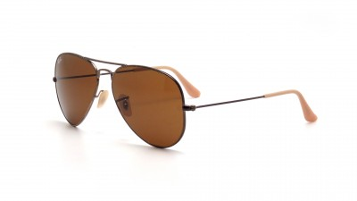 Lunettes de soleil Ray-Ban Aviator Distressed Effet Usé Or RB3025 177/33 64,92 €