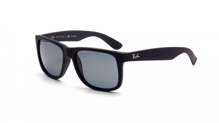 ray ban justin polarized  Ray-Ban Justin Black RB4165 622/2V 54-16 Polarized