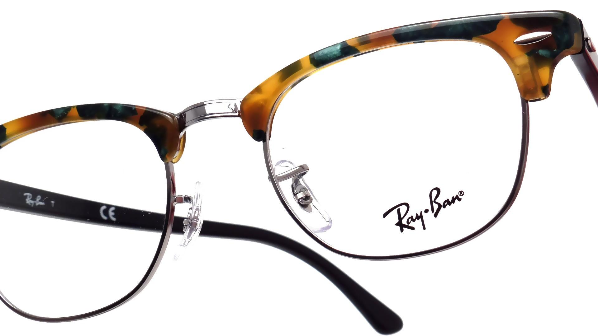 06a1c7f8cc9522 Ray Ban Clubmaster Écaille RX5154 RB5154 5493 49 21