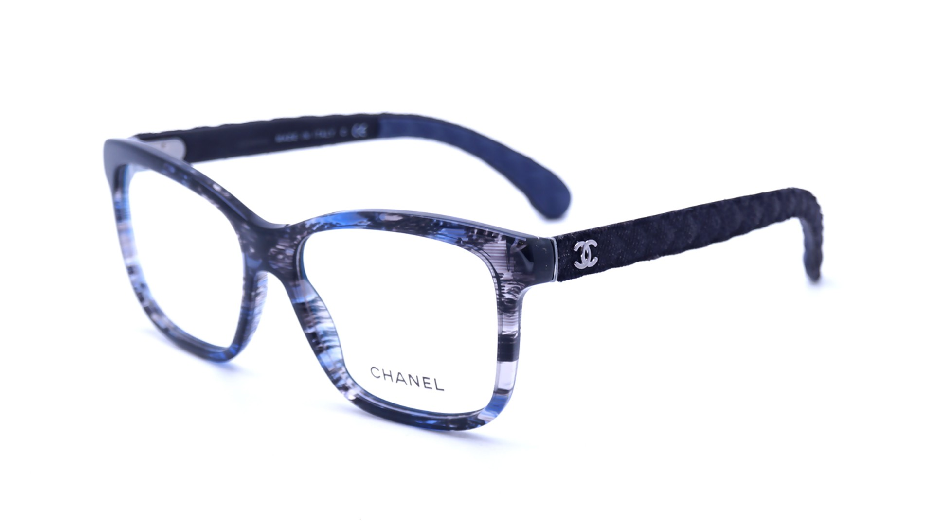 Chanel Blue Frame Glasses : Chanel Matelasse Blue CH3334 1552 54-16 Visiofactory