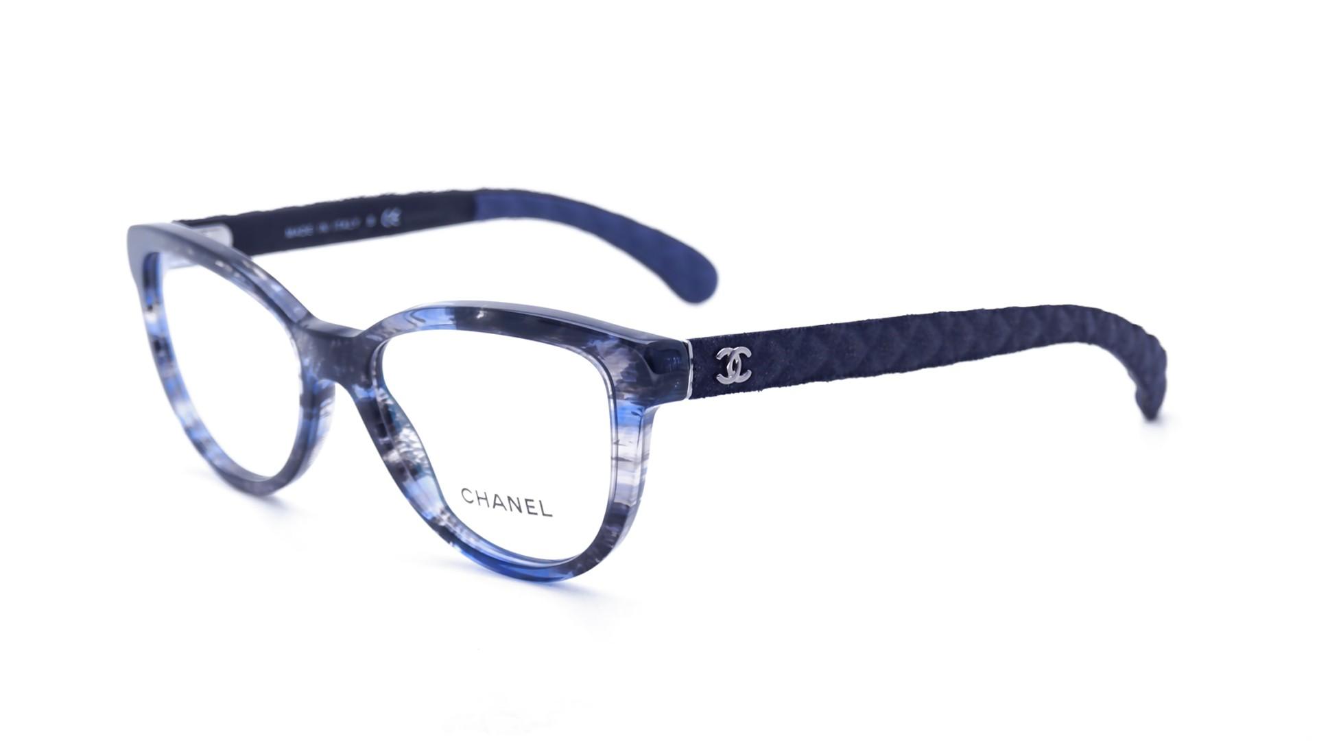 chanel matelass 233 blue ch3335 1552 52 18 visiofactory