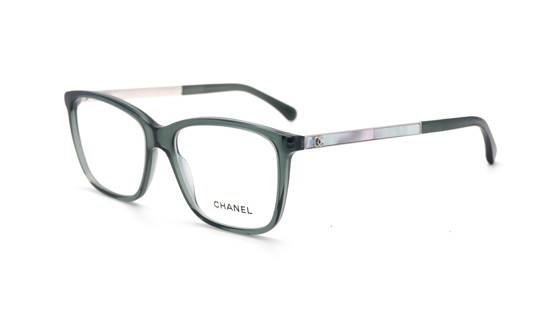 Chanel Eyeglass Frames With Pearls : Chanel Perle Green CH3331H 1546 54-16 Visiofactory