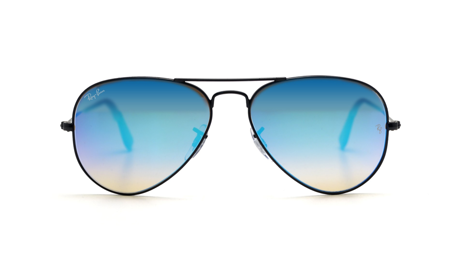 Ray ban aviator metal noir rb3025 002 4o 55 14 prix 114 for Lunettes de soleil ray ban aviator miroir