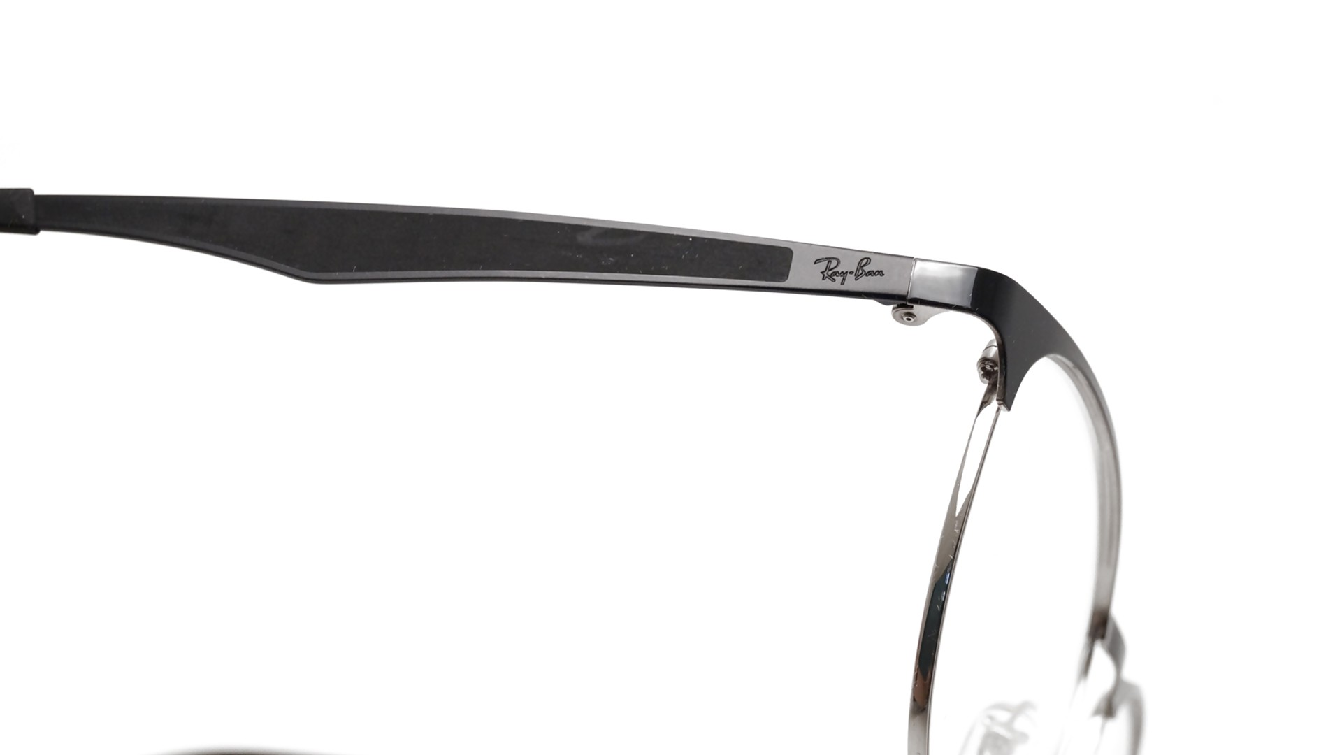9b1f614bb66 ray ban clubmaster sunglasses black and silver luxottica ray-ban ...