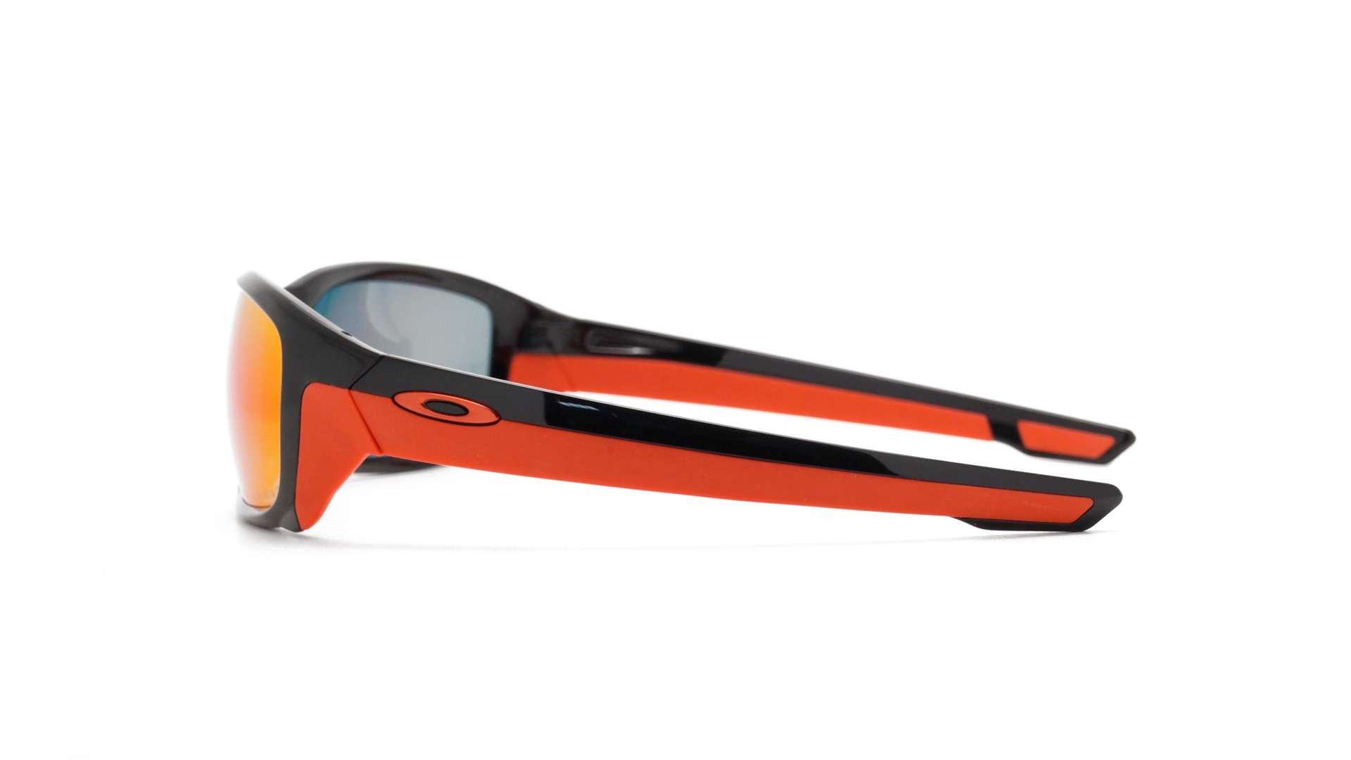 red and black oakley sunglasses  Straightlink Polished black 009331 08 58-17 Polarized