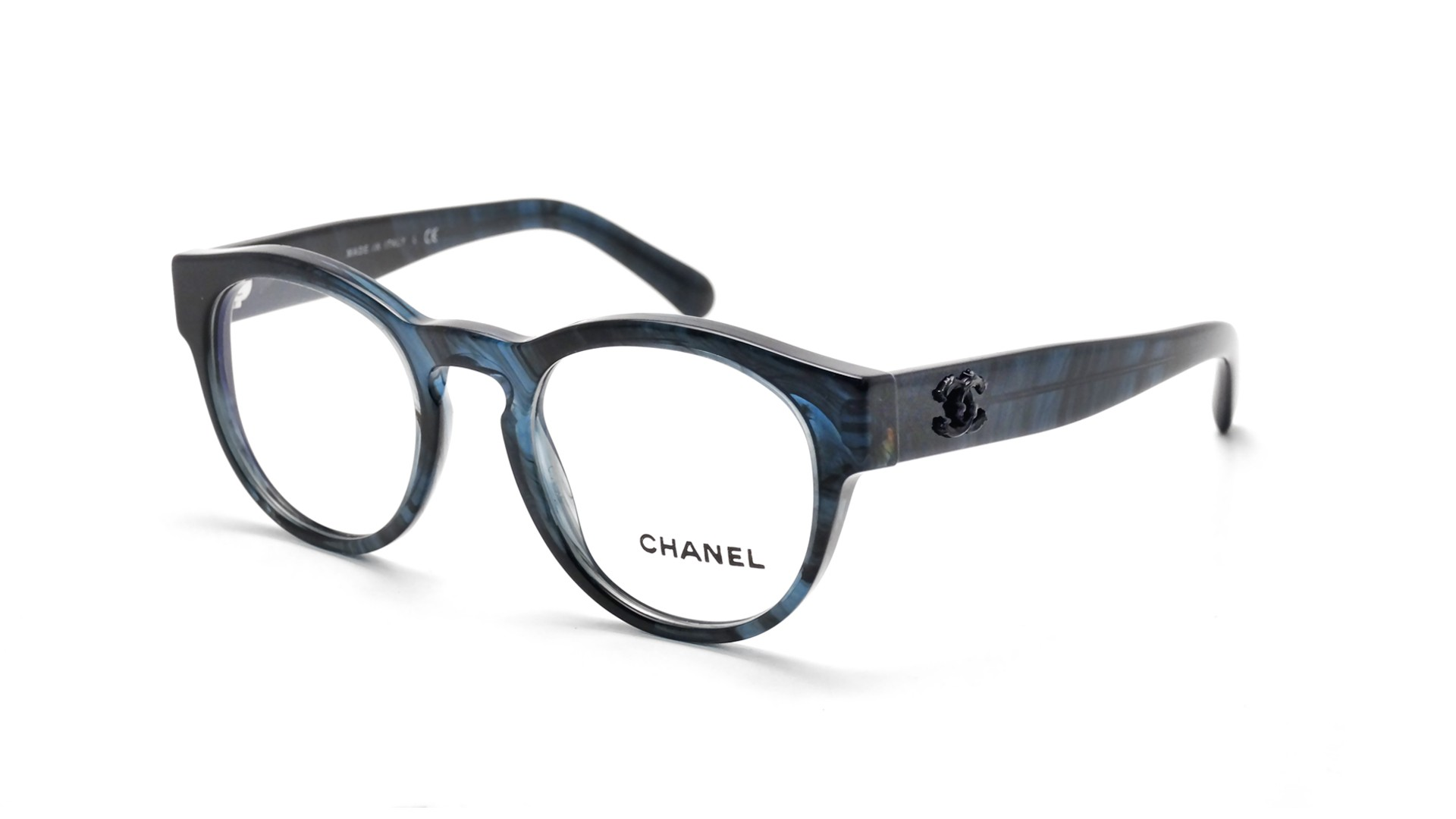 Chanel Blue Frame Glasses : Chanel Signature Blue CH3346 1570 47-20 Visiofactory