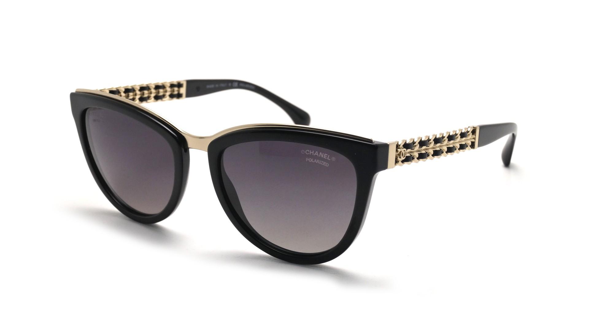 Chanel Erfly Acetate Sunglasses  cha?ne black ch5361q c501s8 55 19 polarized visiofactory